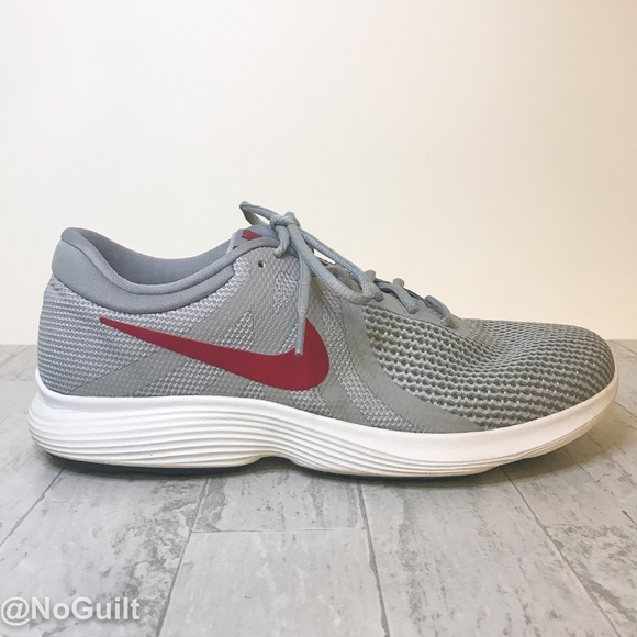 Mens Gray And Red Tennis Shoe Size 115